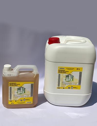 detergente líquido institucional